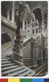 Grand stairway, Library of Congress, Washington, D.C., 1907-1914