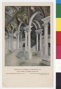 Side view of upper stairway, Library of Congress, Washington, D.C., 1901-1907