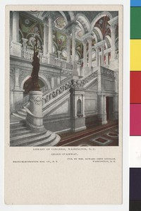 Grand stairway, Library of Congress, Washington, D.C., 1901-1907