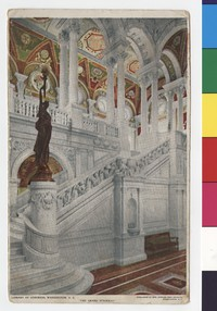 Grand Stairway, Library of Congress, Washington, D.C., 1907-1909