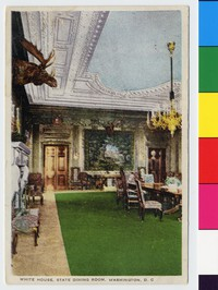 White House, State Dining Room, Washington, D.C., 1907-1914