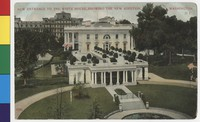 New White House entrance, Washington, D.C., 1907-1914