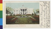 White House and gardens, Washington, D.C., 1901-1904