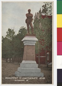 Monument to Confederate Dead, Alexandria, Virginia, 1907-1914