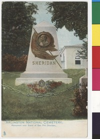 Sheridan's grave site in Arlington National Cemetery, Arlington, Virginia, 1901-1907
