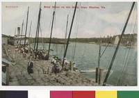 People on the dock in Cape Charles, Virginia, 1907-1914