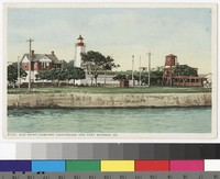 Old Point Comfort Lighthouse, Fort Monroe, Hampton, Virginia, 1907-1914