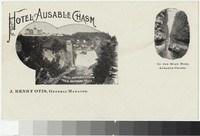 Hotel Ausable Chasm from Rainbow Falls, Ausable, New York, 1898-1901