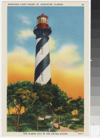 Anastasia Light House, St. Augustine, Florida, 1930-1944