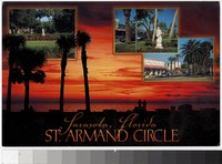 Beach and city views of St. Armand Circle, Sarasota, Florida, 1991-2000