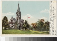 Chapel and Campus, Agricultural College, Amherst, Massachusetts, 1904-1905