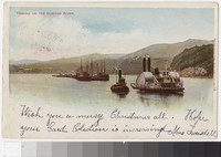 Steamboats on the Hudson River, New York, New York, 1901-1905