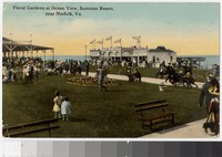 Floral gardens at Ocean View resort, Norfolk, Virginia, 1907-1913