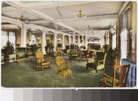 Lounge Room of the SamOset, Rockland Breakwater, Maine, 1907-1909