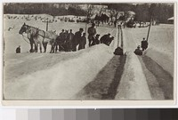 Carriage and Sledders, Woodstock, Vermont, 1915-1916