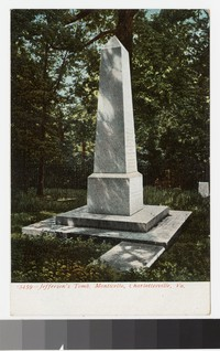 Jefferson's Tomb, Monticello, Charlottesville, Virginia, 1901-1907