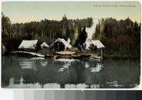 Camp on the water, Adirondack Park, New York, 1907-1914