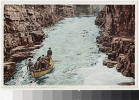 Boat on the rapids, Ausable Chasm, New York, 1907-1914