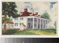 East front entrance at Mount Vernon, Virginia, 1934