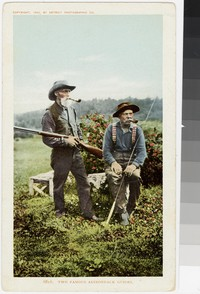 Two famous guides, Adirondack Park, New York, 1902-1907