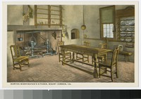 Martha Washington's kitchen, Mount Vernon, Virginia, 1915-1930