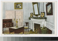 Martha Washington's sitting room, Mount Vernon, Virginia, 1915-1930