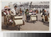 Rickshaw rides on the boardwalk, Atlantic City, New Jersey, 1907-1913