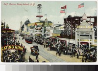 Surf Avenue, Coney Island, Brooklyn, New York, 1907-1914