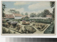 Servant's quarters and garden, Mount Vernon, Virginia, 1915-1930
