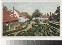The flower gardens, Mount Vernon, Virginia, 1915-1930