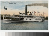 Steamer Charles Macalester for Mount Vernon, Virginia, 1907-1914