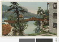 Rustic bridge at Mohonk Lake, New Paltz, New York, 1907-1914