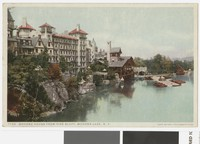 Mohonk House from Pine Bluff, Mohonk Lake, New Paltz, New York, 1907-1914
