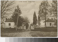 Lodge gate, Mt. Vernon, Virginia, 1907-1908
