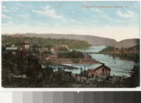View of the Delaware River, Easton, Pennsylvania, 1907-1914
