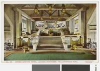 Lounge Staircase, Grand Canyon Hotel, Yellowstone Park, 1907-1914