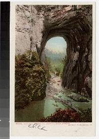 Natural Bridge , Looking Down Stream, Virginia, 1915-1930