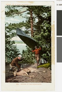 Hunting in the Adirondacks, New York, 1903-1907