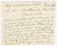 To Unknown Recipients -- From Edith F. Brooke Green
