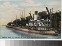 Glimpse of the C. and O. Coal Piers, Newport News, Virginia, 1907-1914