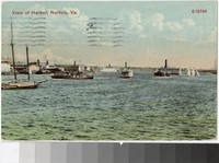 View of Harbor, Norfolk, Virginia, 1907-1911