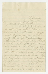 To Edith F. Brooke Green -- From Eliza M. Hallowell