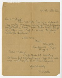 To Edith F. Brooke Green -- From Meredith Green