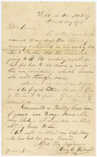 To Sarah Brooke Farquhar -- From Henry C. Hallowell