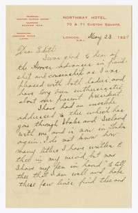 To Edith F. Brooke Green -- From Edith [Farquhar