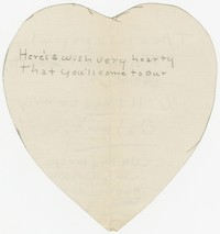 To Edith F. Brooke Green -- Cards and Invitations, [from Diaries and Correspondence]