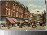 Main Street from Granby Street, Norfolk, Virginia, 1907-1914