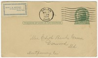 To Edith F. Brooke Green -- From C. M. Bentley