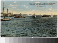 Waterfront and ferry boats, Norfolk, Virginia, 1907-1914