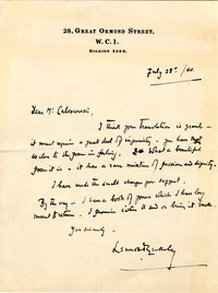 Letter from Sir Lennox Berkeley to Michel-Dmitri Calvocoressi, July 28, 1940